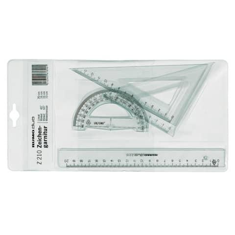 Zeichengarnitur 4-teilig rauchgrau RUMOLD Z210 Plastik im Etui Produktbild
