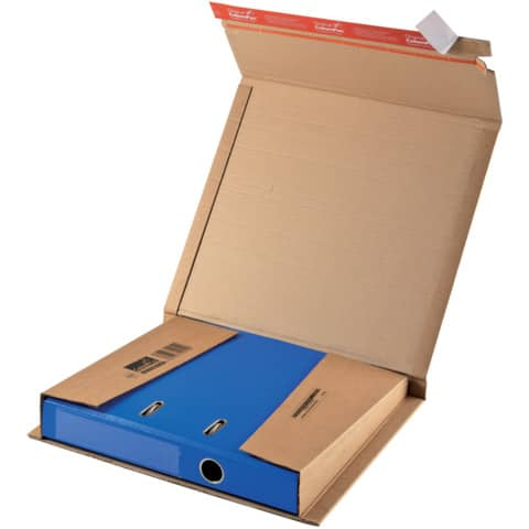 Versandkarton f.A4 Ordner CP05001 braun COLOMPAC 30000255 320x290x35-80mm Produktbild