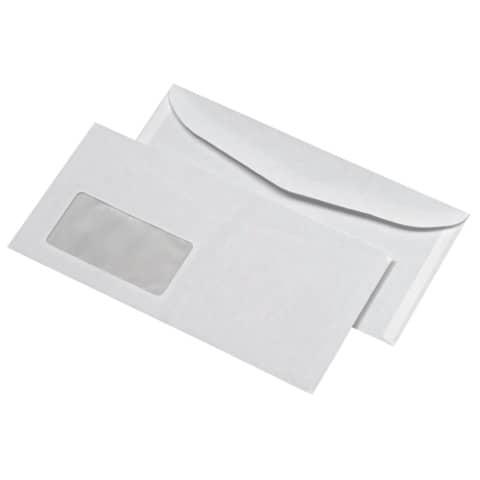 Briefhülle Kuvertier gum. 75g weiß ELEPA 30007488 1000ST 114x229mm Produktbild