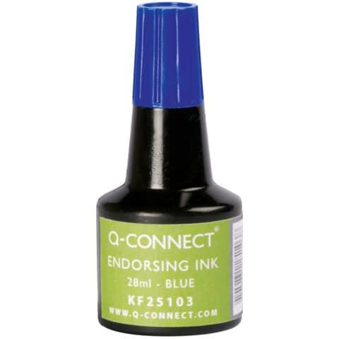 Stempelfarbe 28ml blau Q-CONNECT KF25103 Produktbild
