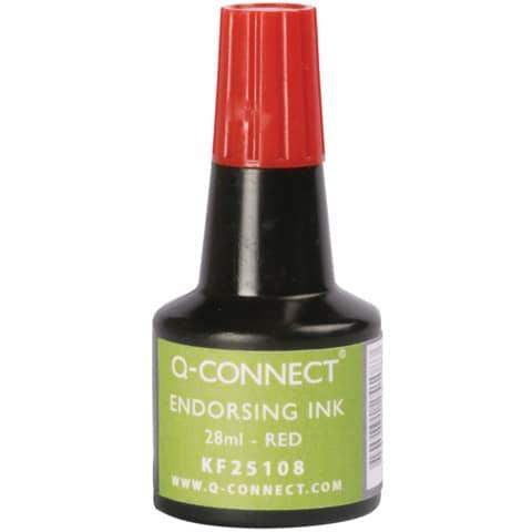 Stempelfarbe 28ml rot Q-CONNECT KF25108 Produktbild