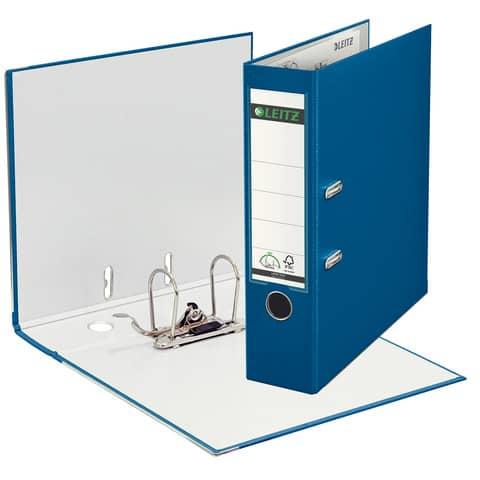 Ordner Plastik A4 8cm blau LEITZ 1010-50-35 180° Mechanik Produktbild Einzelbild 1 XL