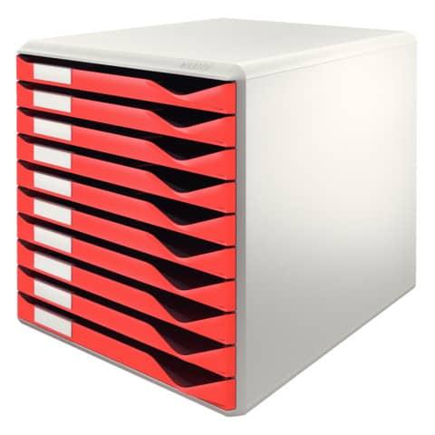 Schubladenbox 10 Laden rot LEITZ 5281-00-25 Produktbild Einzelbild 2 XL