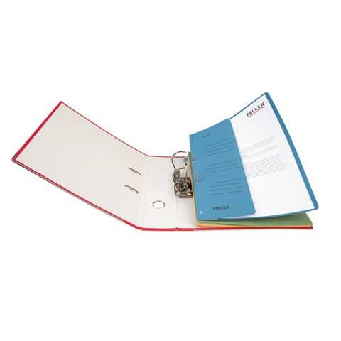 Ösenhefter A4 blau 1/2 Deckel FALKEN 80003809 Produktbild Anwendungsdarstellung XL