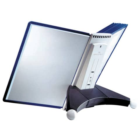 Sichttafelständer SHERPA® Modul 10 grau DURABLE 5623 57 leer für 10 Tafeln Produktbild Einzelbild 3 XL