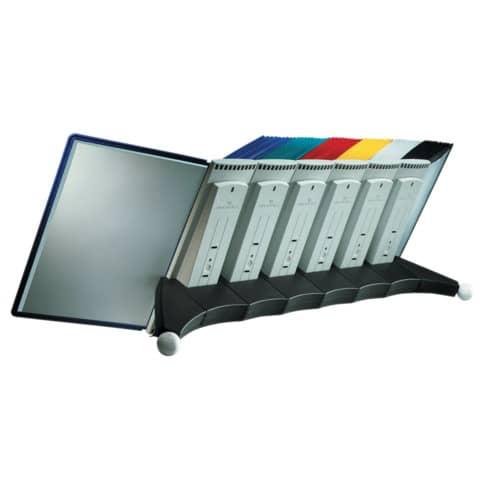 Sichttafelständer SHERPA® Modul 10 grau DURABLE 5623 57 leer für 10 Tafeln Produktbild Detaildarstellung XL