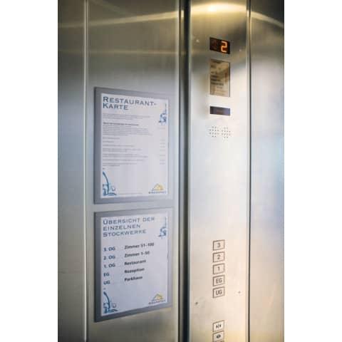 Magnetrahmen DURAFRAME® A4 DURABLE 4872 23 sk silber 2 Stück Produktbild Produktabbildung aufbereitet 3 XL