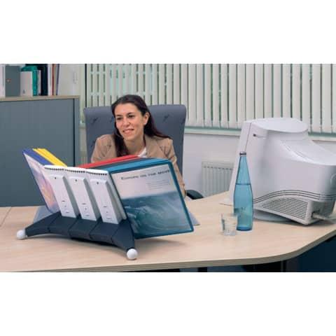 Sichttafelständer SHERPA® Modul 10 grau DURABLE 5623 57 leer für 10 Tafeln Produktbild Produktabbildung aufbereitet 3 XL
