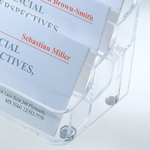 Visitenkarten-Aufsteller glasklar SIGEL VA138 f. 560 Karten max. 97x85mm Produktbild Detaildarstellung XL