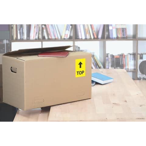Universaletiketten 70x37 gelb HERMA 4406 100 Blatt Produktbild Produktabbildung aufbereitet 2 XL