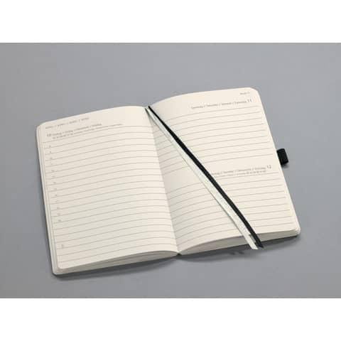 Buchkalender 2020 A6 schwarz SIGEL C2021 CONCEPTUM Produktbild Einzelbild 3 XL