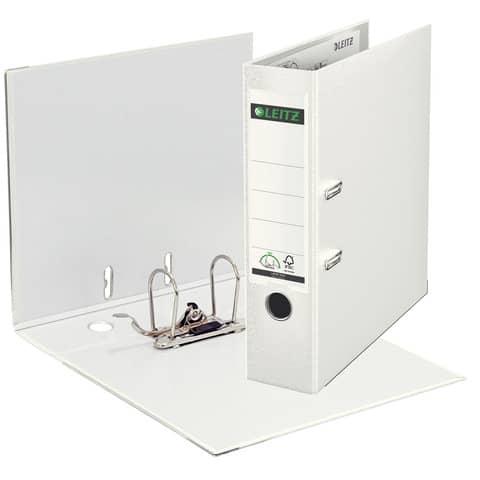 Ordner Plastik A4 8cm weiß LEITZ 1010-50-01 180° Mechanik Produktbild Einzelbild 1 XL