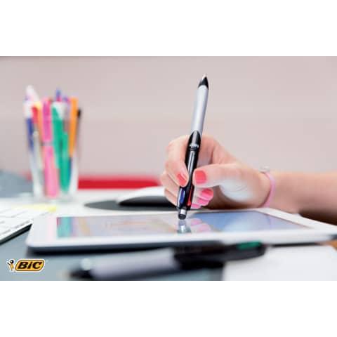 Vierfarbkugelschreiber Stylus BIC 926404 /4 Colours Produktbild Anwendungsdarstellung 2 XL