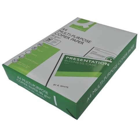 Kopierpapier A4 80g weiß Q-CONNECT KF01087 ECF 500 Blatt Produktbild