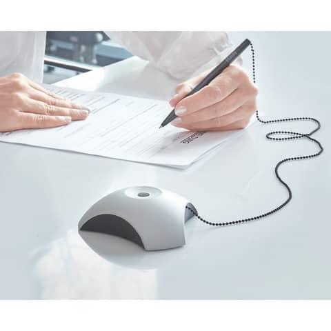 Kugelschreiberständer grau/schwarz HAN 1751-31 mit Kette Produktbild Anwendungsdarstellung XL