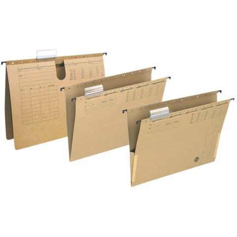 Hängetasche mit Fröschen Q-CONNECT KF00556 braun Produktbild Stammartikelabbildung XL