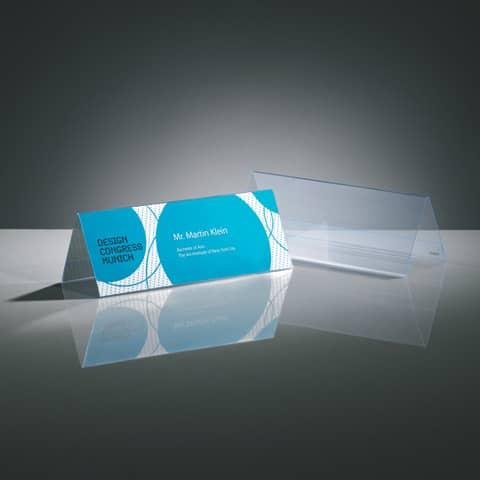 Tischaufsteller 24x9 cm glasklar 5 Stück SIGEL TA130 inkl. Einsteckkarten Produktbild Stammartikelabbildung XL