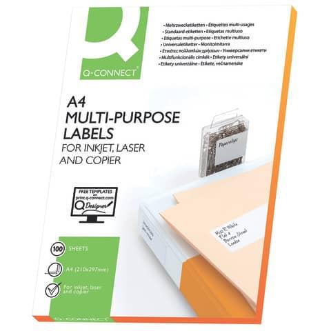 Universaletikett 38,1x21,2 wss Q-CONNECT KF00573 100Bl 6500St Produktbild