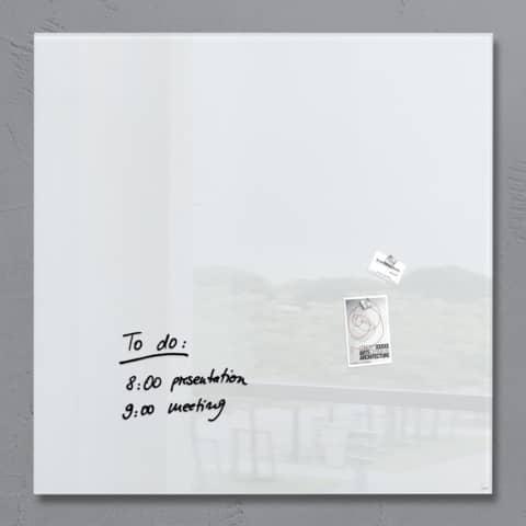 Magnettafel 100x100cm weiß SIGEL GL201 artverumXL Produktbild