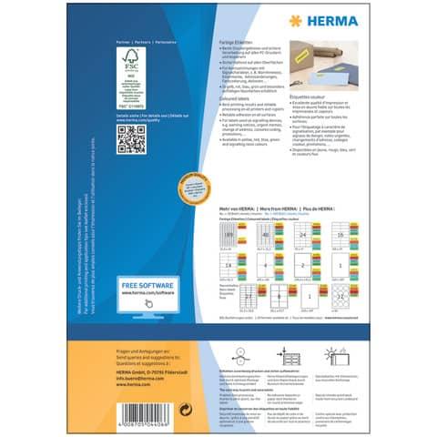 Universaletiketten 70x37 gelb HERMA 4406 100 Blatt Produktbild Einzelbild 3 XL