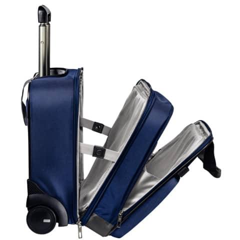 Trolley Complete titan blau LEITZ 6059-00-69 Handgepäck Produktbild Anwendungsdarstellung XL
