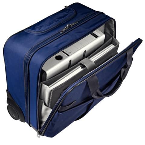 Trolley Complete titan blau LEITZ 6059-00-69 Handgepäck Produktbild Anwendungsdarstellung 2 XL
