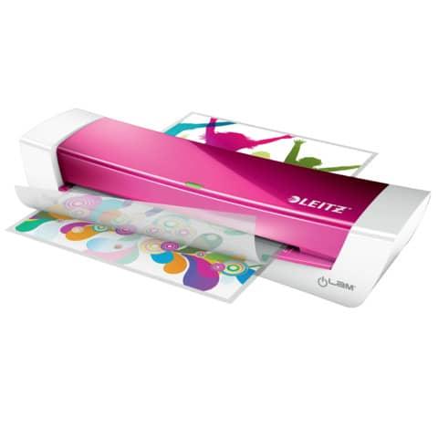 Laminator iLam HomeOffice A4 pink LEITZ 7368-00-23 Produktbild Anwendungsdarstellung XL
