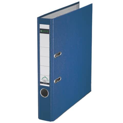 Ordner Plastik A4 5cm blau LEITZ 1015-50-35 180° Mechanik Produktbild