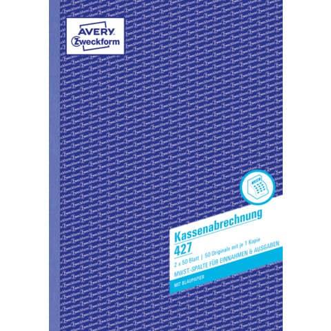 Kassenbuch A4 hoch, 2x50 Blatt ZWECKFORM 427 Produktbild