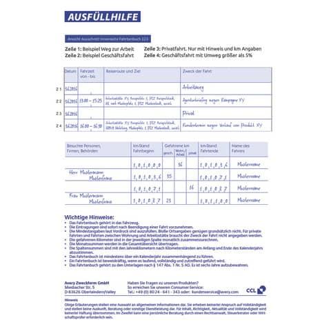 Fahrtenbuch A5/40BL ZWECKFORM 223 Produktbild Einzelbild 4 XL
