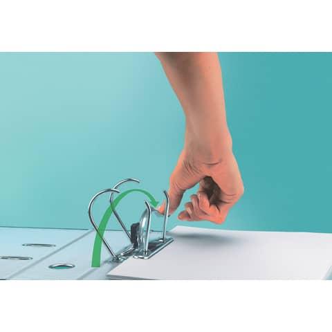 Ordner Plastik A4 8cm rot LEITZ 1010-50-25 180° Mechanik Produktbild Anwendungsdarstellung XL