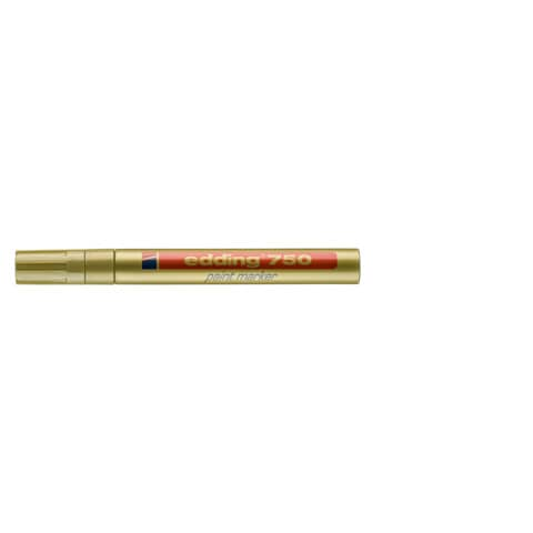Lackmalstift 750 2-4mm gold EDDING 4-750053 Rundspitze Produktbild Einzelbild 1 XL