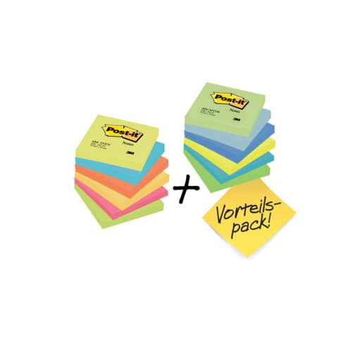 Haftnotizblock 76x76 Dream+En POST-IT 654ENDRP 12 Stück Promotion Produktbild
