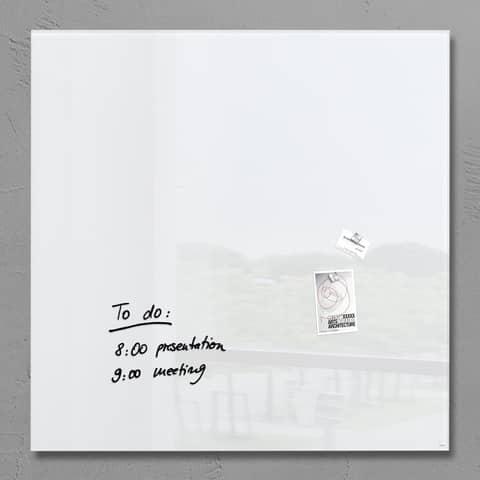 Magnettafel 100x100cm weiß SIGEL GL201 artverumXL Produktbild Einzelbild 1 XL