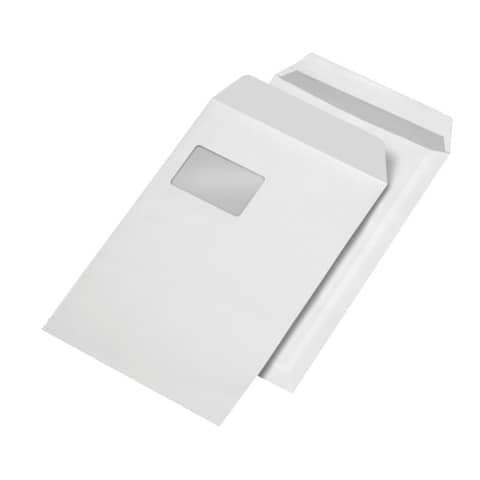 Versandtasche C4 m.Fe selbstklebend weiß ELEPA 30005515, 90g, 250 Stück Produktbild
