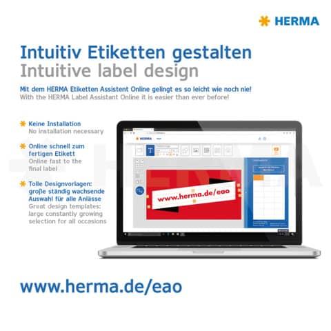 Universaletiketten 70x37 gelb HERMA 4406 100 Blatt Produktbild Detaildarstellung 2 XL