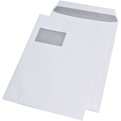 Versandtasche C4 m.Fe haftklebend weiß ELEPA 30005425, 100g, 250 Stück Produktbild