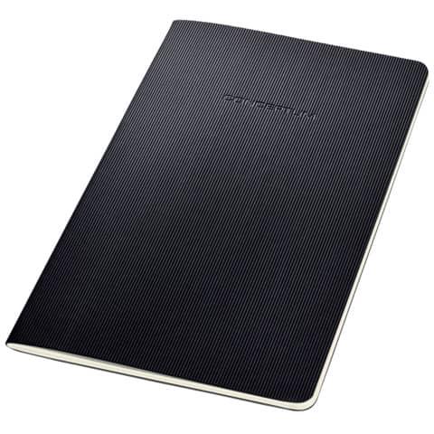 Notizheft ca. A5 kariert schwarz CONCEPTUM CO862 Softcover Produktbild