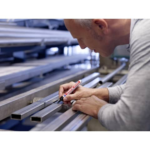Permanentmarker 3000 1,5-3mm schwarz EDDING 3000-001 Rundspitze nachfüllbar Produktbild Anwendungsdarstellung 5 XL