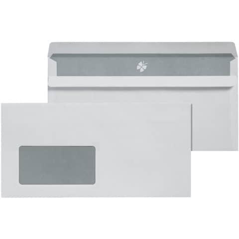 Briefhülle DIN lang selbstkl. m.F. weiß ELEPA 30006838/22770A, 72g 1000 Stück Produktbild