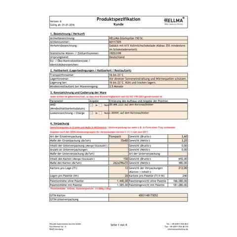 Schokolade u. Keks Glückspilz 150ST HELLMA 60117305 Produktbild Lebensmittelinformation XL