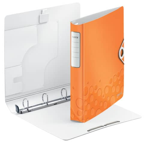 Ringbuch A4 4 Ring D30mm orange metallic LEITZ 4240-00-44 Wow Active Produktbild