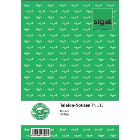 Telefonnotiz SIGEL TN515 Produktbild Einzelbild 2 XL