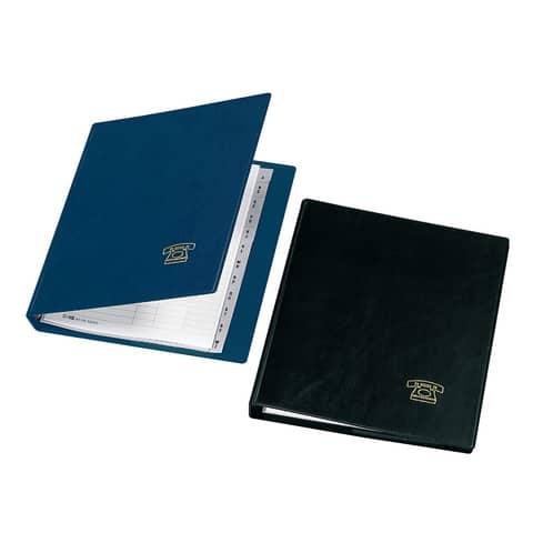 A5 Veloflex® Telefonringbuch schwarz