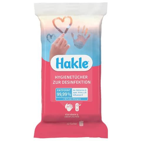 Feuchttuch zur Desinfektion 12 Stück HAKLE 80121 rot Produktbild