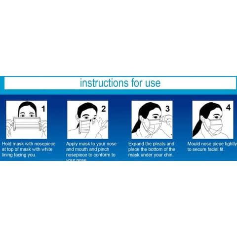 Mund- und Nasenschutzmaske  blau/weiß VANCH KZ001 BFE99% EN14683 TypeII Produktbild Anwendungsdarstellung XL