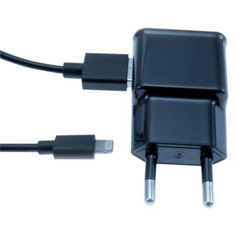 Ladegerät Lightning schwarz MEDIA RANGE MRMA107 Reise Produktbild Einzelbild 2 XL