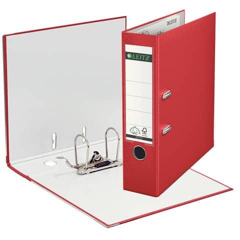 Ordner Plastik A4 8cm rot LEITZ 1010-50-25 180° Mechanik Produktbild Einzelbild 1 XL