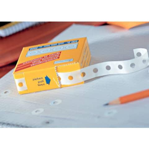 Verstärkungsringe 500 Stück transparent ZWECKFORM 3510 Produktbild Anwendungsdarstellung XL