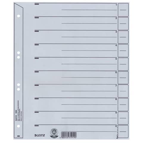 Trennblatt A4 grau LEITZ 1650-00-85 100ST ungeöst Produktbild